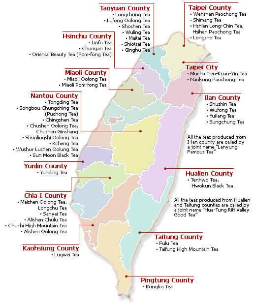 tipos de Té de Taiwán