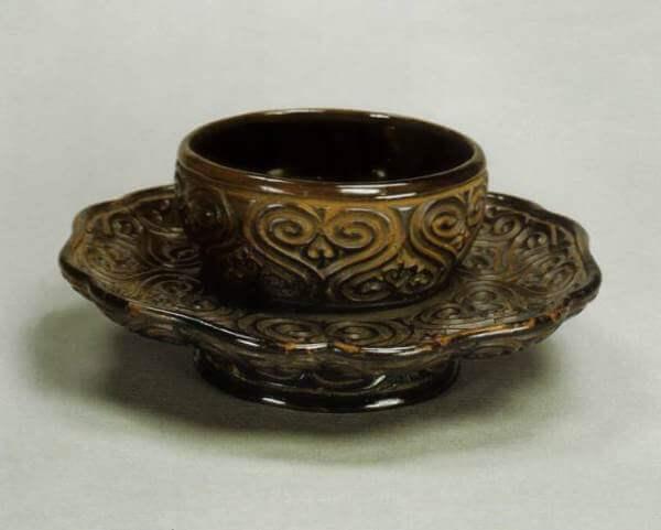 tetera yixing posavasos antiguo tuocha