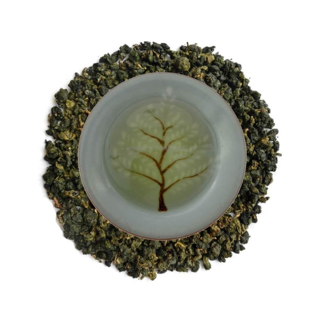 Oolong Verde Alishan Superior alta montaña licor y hojas PruebaTé