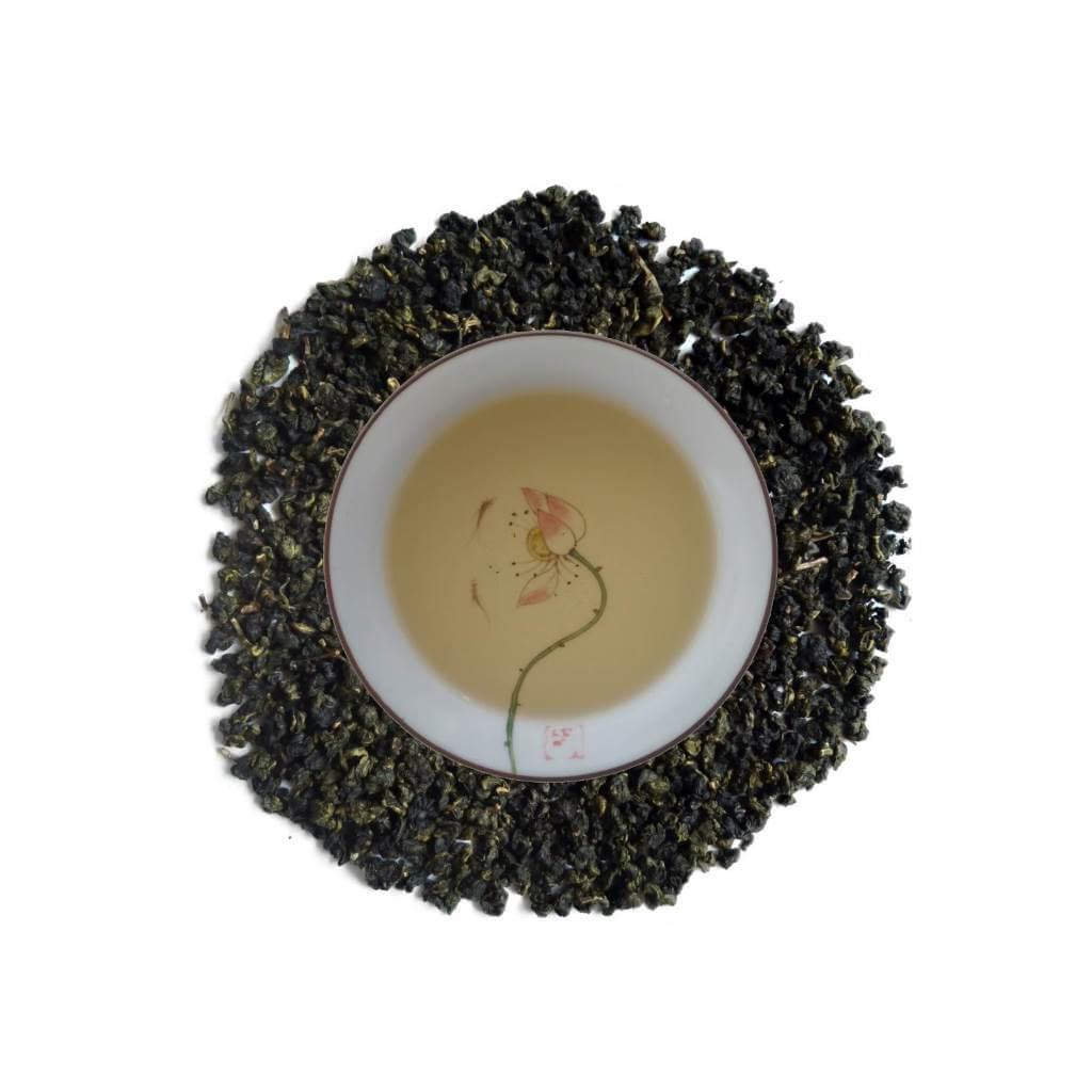 Oolong Verde Aroma de Osmanto Campeón licor y hojas PruebaTé
