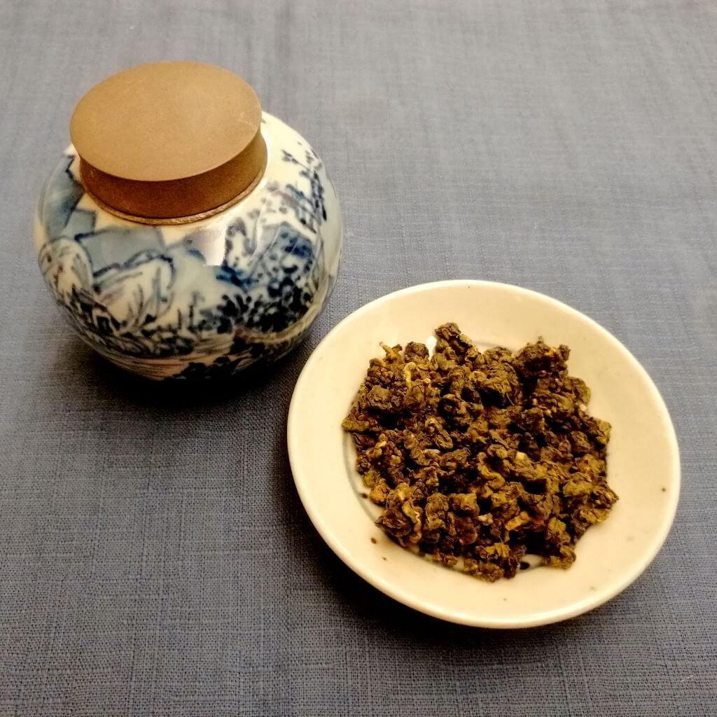 té oolong verde Alishan Pureza hebras secas