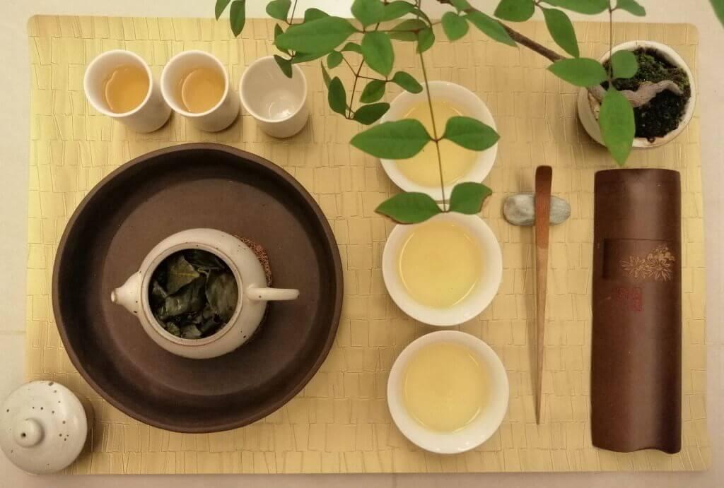 Té oolong verde Shanlinxi orgánico chaxi