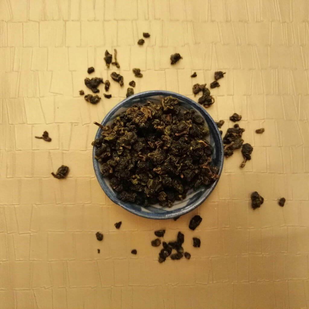 Té oolong verde Shanlinxi orgánico hoja en seco