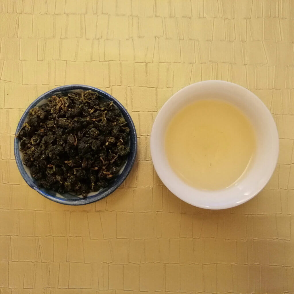 Té oolong verde Shanlinxi orgánico hoja y licor